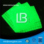 Yellow-green photoluminescent glass mosaic tile LBG-GM