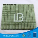 blue color glowing glass mosaic in daylight LBSB-GM