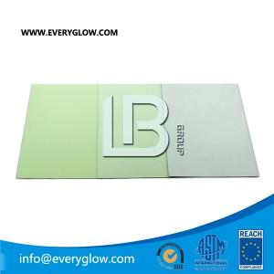 Everyglow photoluminescent egress sheet