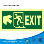 Lower case Exit with arrow diagonally up left