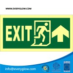 Lower case Exit with arrow up on right