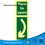 Turn to open down left