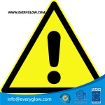 Warning of a danger zone