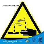 Warning of corrosive substances