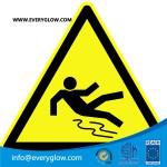 Warning of danger of slipping