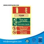 foam fire sign