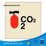 portable fire extinguisher co2 safety sign